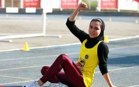 دختر ایرانی رکورد دوی ۶۰ متر داخل سالن را شکست