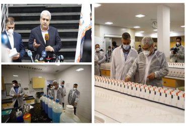 معاون علمی و فناوری رئیس جمهوری از خط تولید دو نوع کیت تشخیصی کرونا رونمایی کرد
