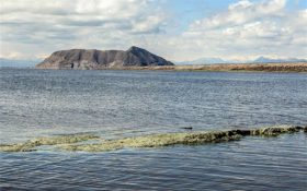 میزان آب دریاچه ارومیه از مرز ۴.۵ میلیارد مترمکعب فراتر رفت