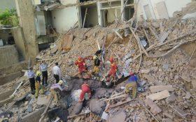 ریزش آوار ساختمان مسکونی در تهران یک کشته داشت