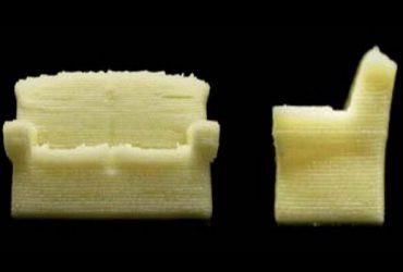 چاپ سه بعدی مبل خوردنی با پودر شیر